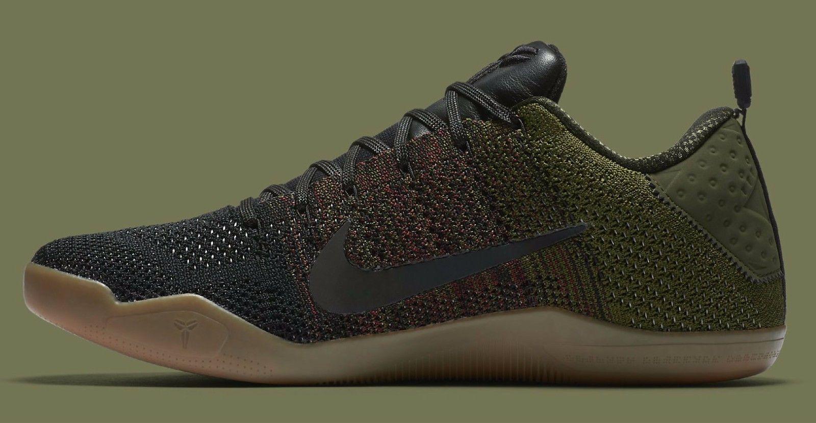 8c2f9fa21fb3 Nike Kobe 11 XI 4KB Black Horse Olive Gum Size Size Size 13.5. 824463-