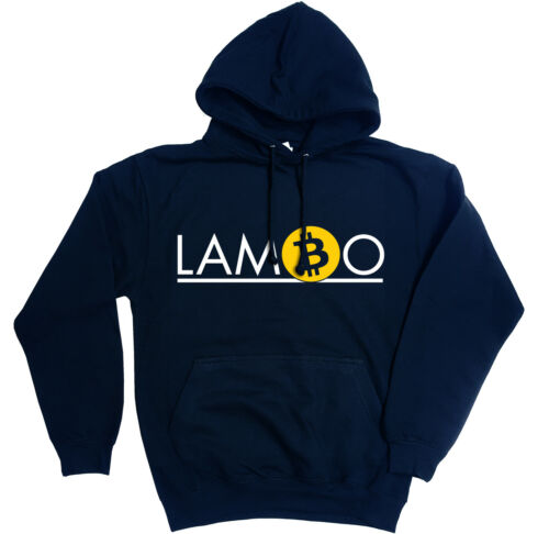 Lambo Felpa con Cappuccio-Divertente BTC ETH Crypto Reddit hodl Bitcoin 6 COLORI