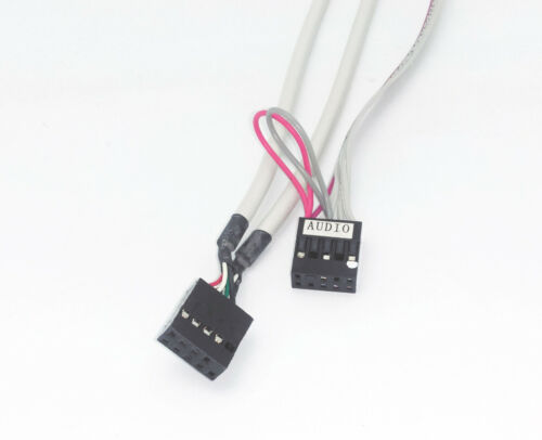 Desktop PC Front Panel Dual USB,Audio Mic Headphone Ports w// Connector Cables