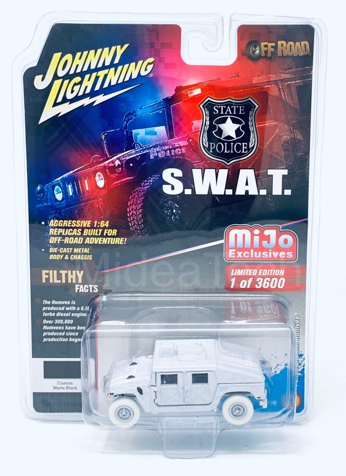 Johnny Lightning 1 64 Police S.W.A.T. Humvee White Lightning Chase Car JLCP7159