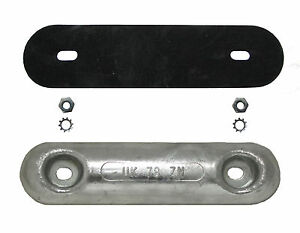 Zinc-4kg-Bar-Anode-for-boat-hulls-with-backing-pad-M10-nuts-washers