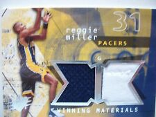 2004 SPX WINNING MATERIALS DUAL JERSEY CARD REGGIE MILLER PACERS WM-RM  BOX54