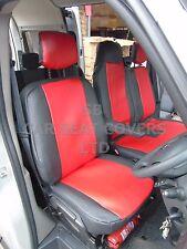 TO FIT A RENAULT MASTER VAN, SEAT COVERS, 2010 ONWARDS HR, RED / BLACK