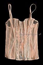 BNWT VICTORIA'S SECRET S Designer Collection Rosa Shimmer Canottiera Lingerie Nuovo