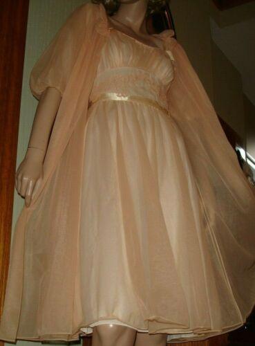 Vtg Vanity Fair 50's 60's Princess Nightgown/Peign