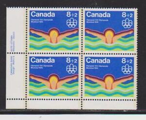 1975 Canada SC# B4 LL - Water Sports - Swimming - Plate Block M-NH Lot# BB 3c