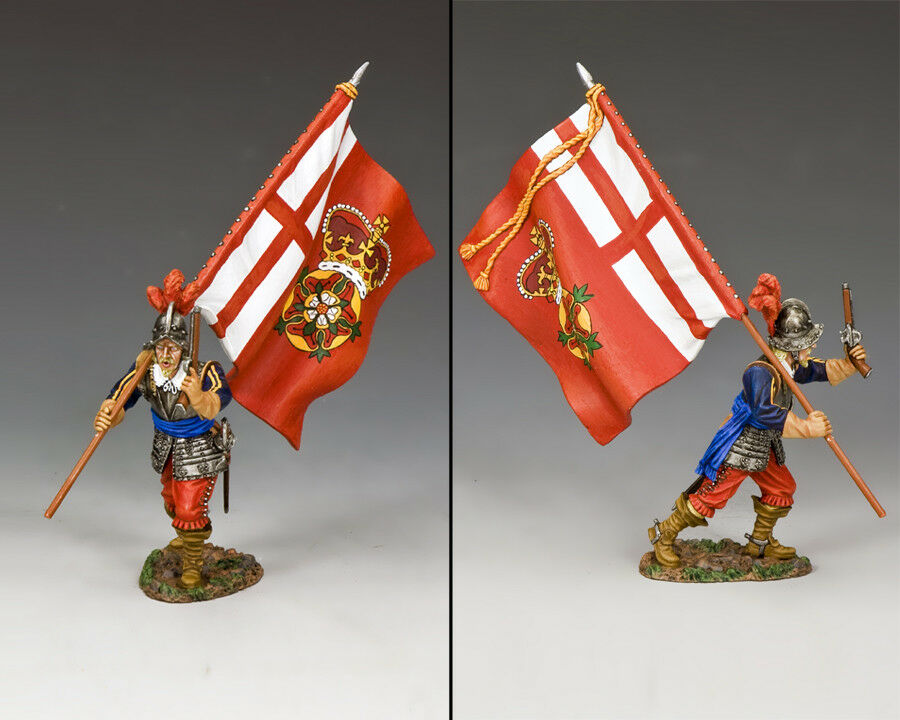 KING AND COUNTRY English Civil War - The King's Lifeguard Standard PnM058