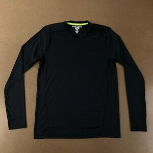 Adidas-Sweat-Nothing-Men-039-s-Size-Small-Black-Long-Sleeve-Athletic-T-Shirt