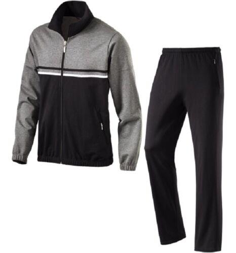 schneider sportswear Herren Trainingsanzug JÜRGENM stahl-meliert schwarz
