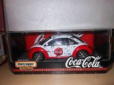 1/18 SCALE MATCHBOX  COCA COLA 1999 VW BEETLE  NIB