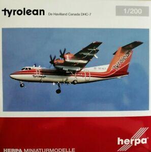 herpa-wings-1-200-metallmodell-559553-Tyrolean-Airways-DHC-7-OE-HLT-amp-Standfuss