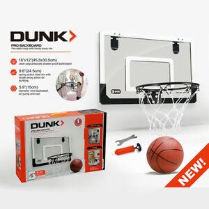 Mini-Basketball-Hoop-With-Ball-18-inch-x12-inch-Shatterproof-Backboard-H8I4