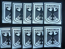 DEALERS LOT OF 10 GERMAN ARMY BUNDESWEHR POCKET PATCHES.