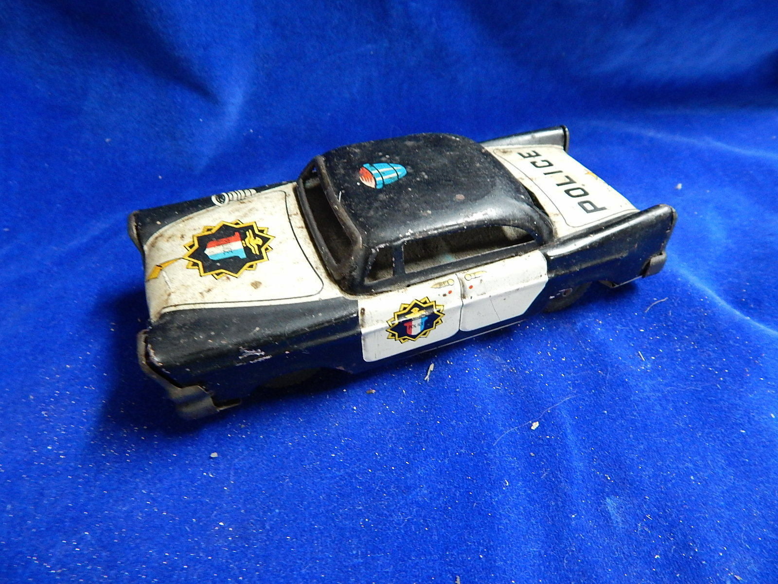 JOUET ANCIEN TOLE   Old tinplate toy - VOITURE   Car - POLICE - JAPAN Mitsuhashi