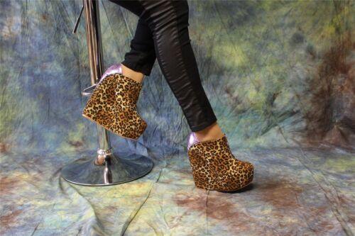 trendige Hochplateau Wedges Pumps im Leopardenlook