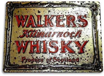 """Walkers Scottish Whisky/"" Art Store Brew Beer Liquor Shop Bar Pub Sign"