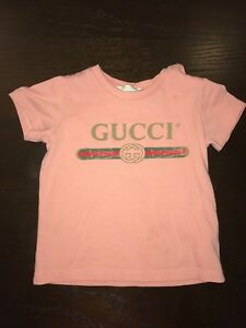 5275d9fae Image is loading Gucci-Kids-Baby-Girl-Classic-Logo-T-shirt