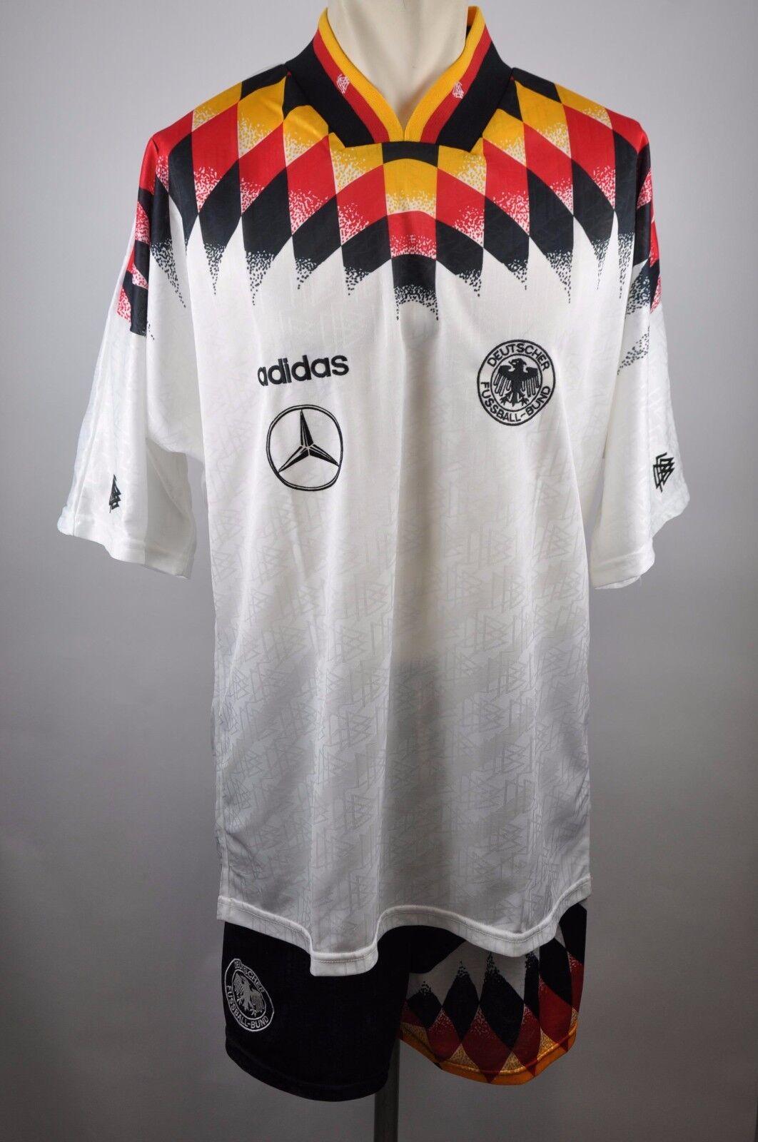Deutschland DFB Trikot Set 1994  Adidas Jersey Mercedes Gr. XL 94er DFB Germany
