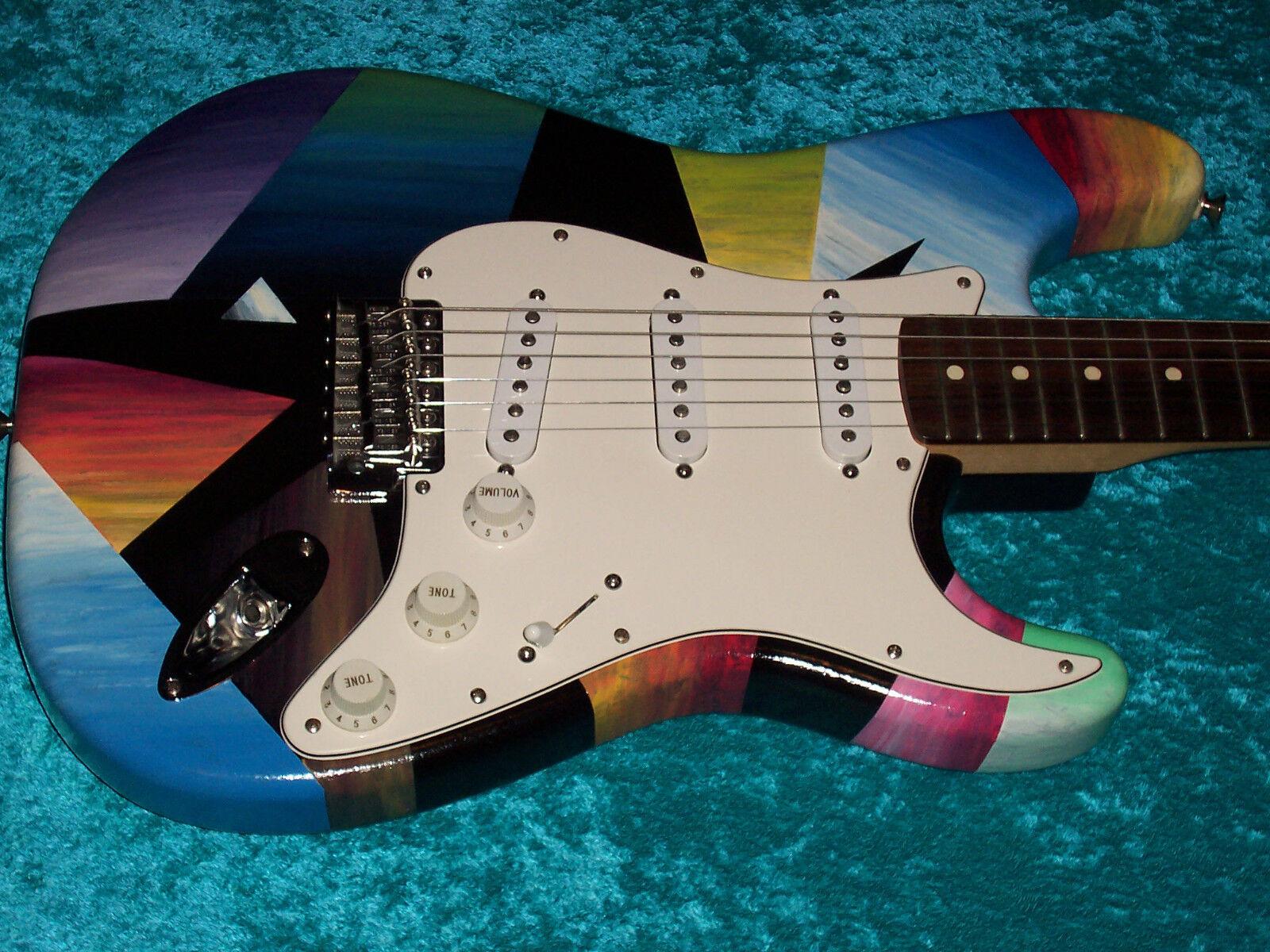 Far Out Fender Stratocaster Guitar Strat MIM Mexikaner Farbe USA Standard