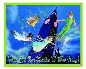 Peter-Pan-Disney-Matte-Vinyl-Birthday-Party-Banner-30-034-x24-034-2-5-039-x-2-039-feet