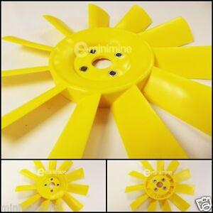 Classic-Mini-Yellow-11-Blade-Plastic-Fan-12G2129-austin-rover-morris-mg-cooper