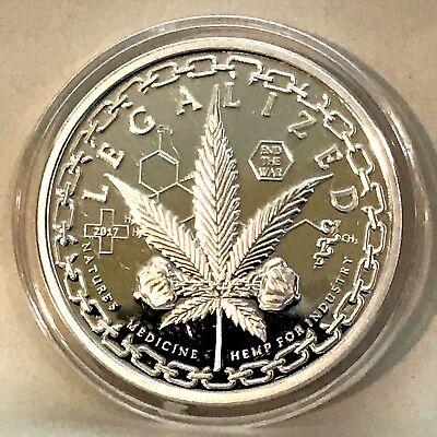 Cannabis Marijuana Fine Silver Bar and Coins!!!