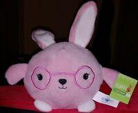 Happy Go Fluffy Soft Pink W White Ears Easter Bunny Plush Stuffed Rabbit 4