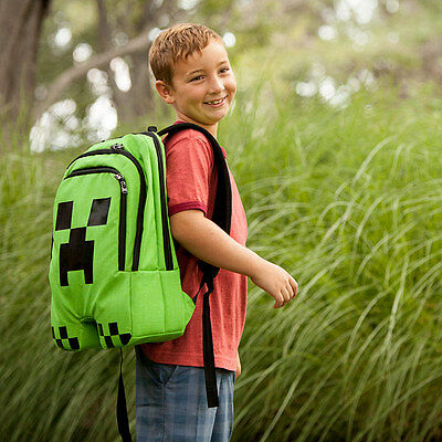 Minecraft Creeper Licensed Backpack  School Bag  Rucksack NEW  Genuine
