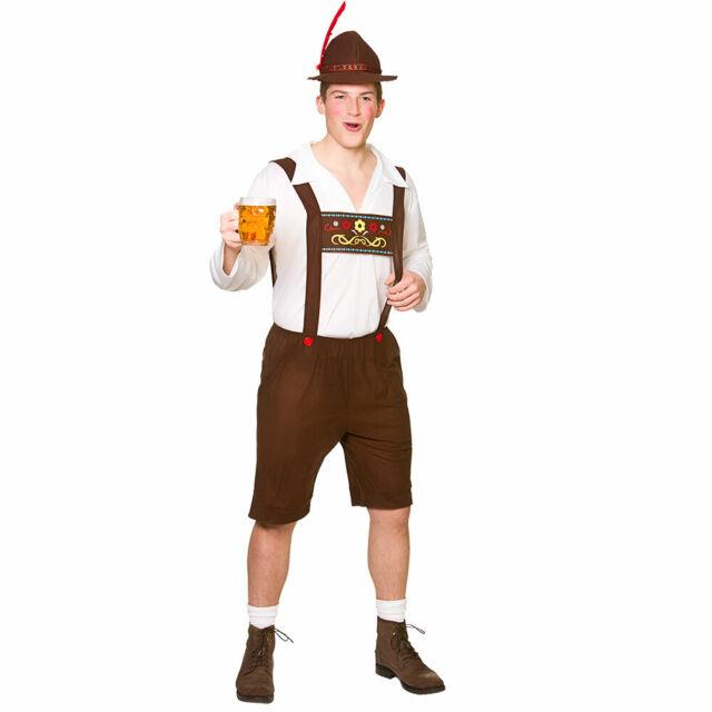 Zombie Costume Adult Beer Lederhosen Funny Oktoberfest Halloween Fancy Dress
