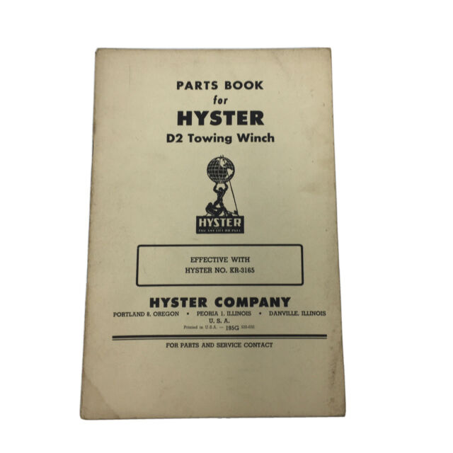 Caterpillar Hyster D2 Towing Winch Instruction Part Manual Kr 3165 Ebay For over 30 years, aw direct has been america's leading supplier of service vehicle accessories. www ebay ca