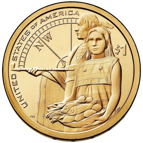 2014 NATIVE AMERICAN SACAGAWEA DOLLAR P or D 1-COIN BRILLIANT UNCIRCULATED