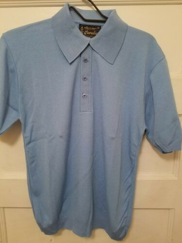 Vtg NOS Arrow Cavalier Men's Size Medium Blue Polo
