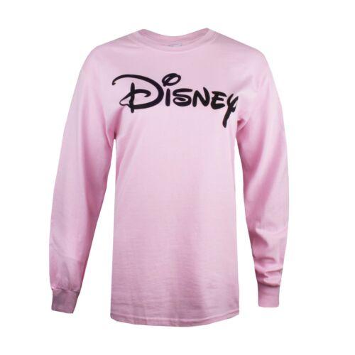 Disney Size S,M,L,XL Long sleeved T-shirt Ladies Logo Pink