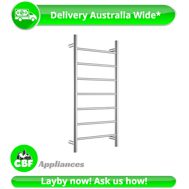 Round 6 Rung Bathroom Towel Ladder 920 x 460mm Stainless Chrome Non Heated