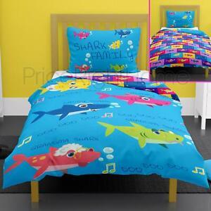 Shark-Family-Set-Housse-de-Couette-Simple-Reversible-Literie-Bebe-Enfants
