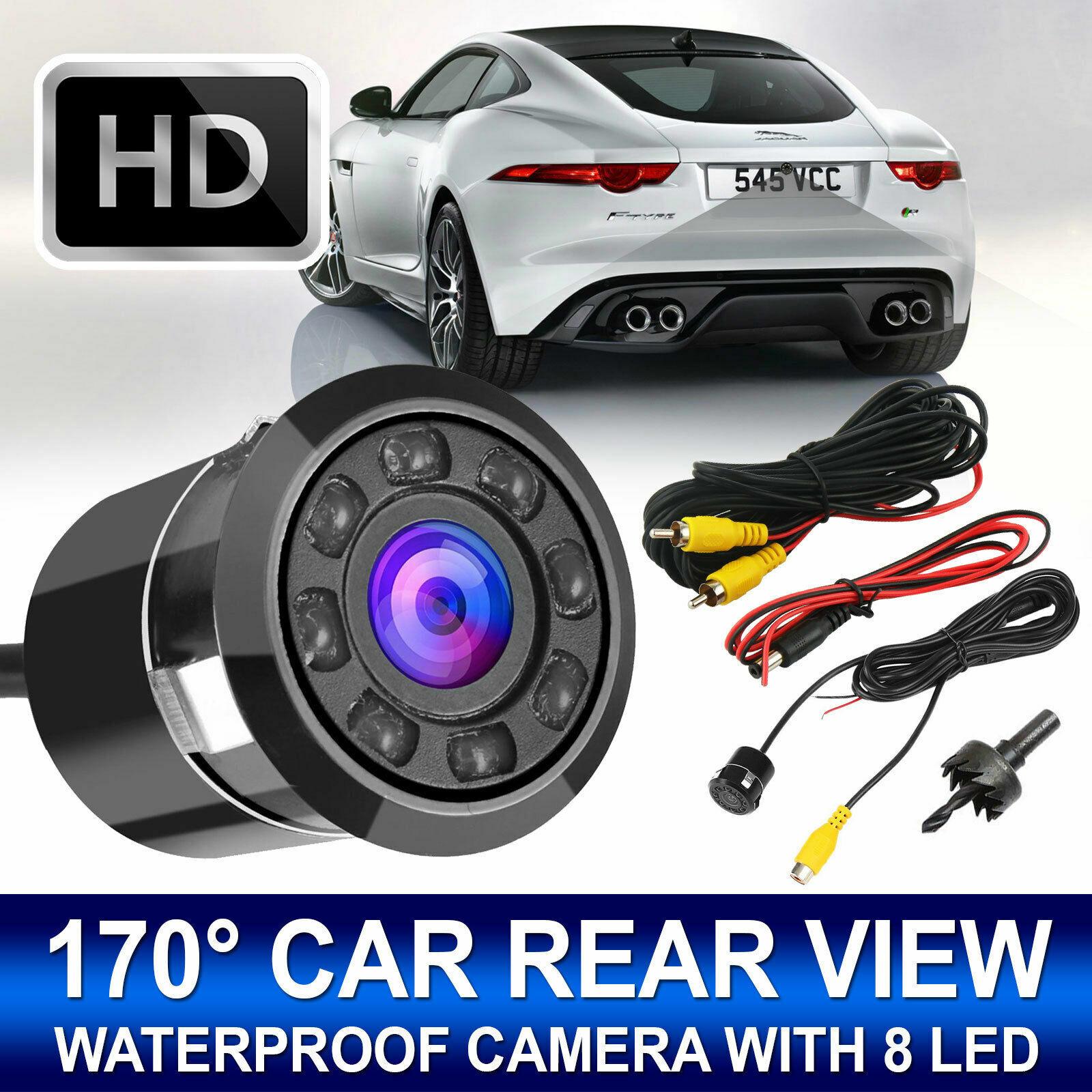 170° CMOS Car Rear View Backup Camera Reverse 8 LED Night Vision Waterproof NEW.