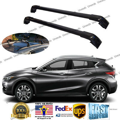 Top Roof Rack Fit FOR INFINITI QX30 2016-2019 Baggage Luggage Cross Bar Crossbar