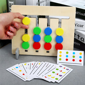 Wooden toy gift Montessori Early Learning challenge Grab ball Family game 1set