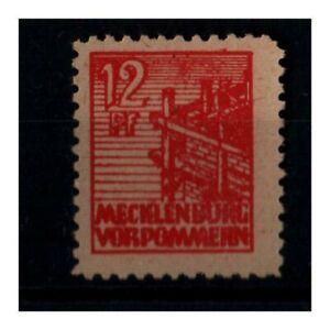 Mi.Nr. 36 z b 12 Pf rot postfrisch geprüft SBZ Mecklenburg-Vorpommern
