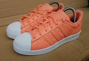 Superbe Neuf Uk 6 Orange Rare Superstar Adidas Taille Reptile Baskets Skin Tout Pwn1xqRU1