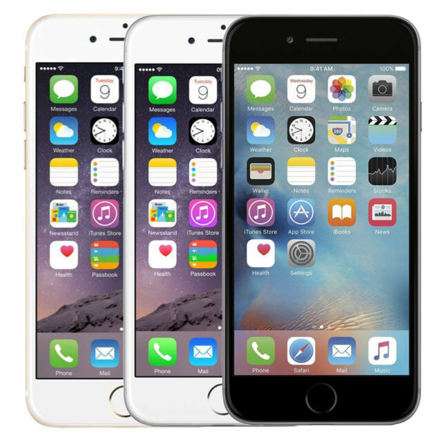 Apple iPhone 6 6Plus + 16GB 128GB (Factory Unlocked) Smartphone Gold Gray Silver