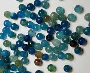 10 perles semi précieuses gemmes AGATES NATURELLES PANACHE CARAMEL 8mm ////68