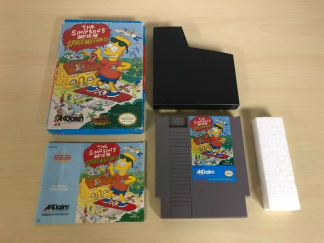 The Simpsons Bart vs. the Space Mutants Complete Nintendo Game NES Original CIB