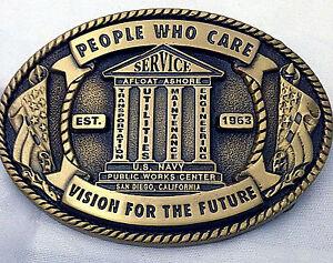 U-S-Navy-Public-Works-Center-Custom-Belt-Buckle-Solid-Brass