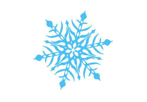 Blue Ice Snowflake Xmas Small or Large Sticky White Paper Stickers Labels NEW