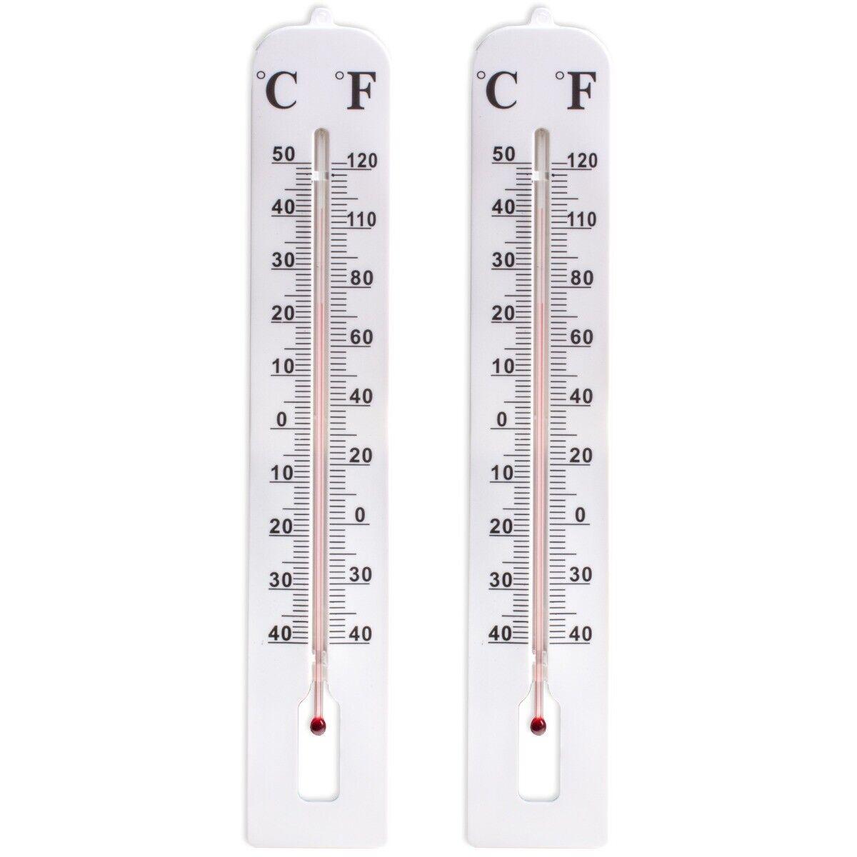 2x LARGE THERMOMETER 40cm Long EASY READ Indoor/Outdoor Garden Temperature Gauge