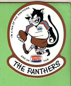 #D382. AMPOL RUGBY LEAGUE STICKER - PENRITH, THE PANTHERS, ABOUT 1978