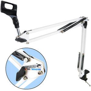 Keepdrum-nb35-WH-Blanc-Micro-trepied-de-table-mikrofonarm-Couronne-Trepied