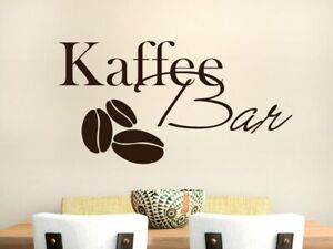 Wandtattoo Küche Kaffee Bar - Küchendeko Cafe Lounge ...