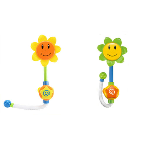 Baby Funny Play Water Game Bath Toy Sunflower Faucet  Shower Toy Send Random